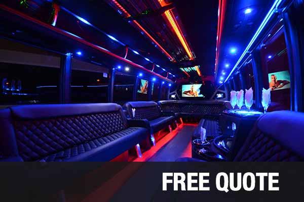 Wedding Transportation party buses for rental Fort Wayne